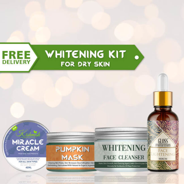 Whitening kit for dry skin
